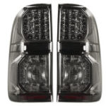 New For Toyota Hilux(Vigo) 2004-2015 Pair Car LED Rear Tail Brake Light Lamp Smoke Black