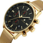 New WWOOR 8862 5ATM Waterproof Chronograph Men Wrist Watch