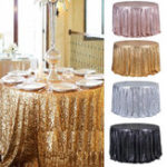 "New Round 47"" Sparkly Sequin Tablecloth Table Cloth Banquet Wedding Party Decor Tablecloth"