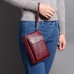 New Women Retro Multifunctional Phone Bag Long Wallet