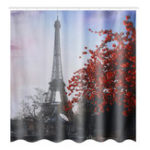 New 180X180CM Eiffel Tower Waterproof Polyester Shower Curtain Bathroom Bathe Cloth