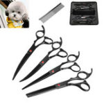 New Pet Cat Dog Grooming Kit 7 Inch Scissors Hair Cutting Curved