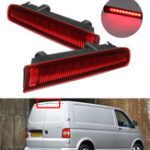 New Barn Door LED High Mount Stop Lamp 3rd Third Brake Light Red for VW T5 T6 2003-2016 7E0945097E 7E0945097H