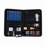 New H&B HB-TZ65 48Pcs Sketching Pencils Set Art Supplies Sketch Tool Set Painting Pencil Professional Drawing Sketching Art Kit with Carrying Bag
