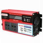 New 5000W DC 12V/24V to AC 220V Power Inverter Digital Modified Sine Wave 4 USB Port 2 Sockets