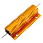 New 3pcs RX24 100W 8R 8RJ Metal Aluminum Case High Power Resistor Golden Metal Shell Case Heatsink Resistance Resistor