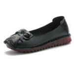 New Women Casual Soft Leather Flat Retro Female Loafers Shoes