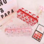 New PVC Transparent Flamingo Cosmetic Bag Travel Storage Wash Bag Storage Bag
