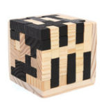 New 54Pcs Wood Magic Intelligence Game 3D Wood Puzzle Brain Teaser Magic Tetris Cube