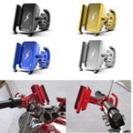 New Aluminum Alloy Bike Motorcycle Phone Holder 360 Degree Rotation For 4.0 Inch – 6.4 Inch Smart Phone