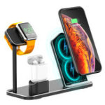 New 3 In 1 10W Qi Wireless Charger Charging Dock Station Stand Holder Phone Holder Watch Holder For iPhone Samsung Apple Watch Series Apple AirPods