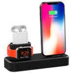 New 3 in1 Charging Dock Station Phone Holder Stand For iPhone XS Max XS XR Apple AirPods Apple Watch Series 1 2 3 4