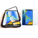 New Bakeey Magnetic Adsorption Aluminum Alloy Tempered Glass Protective Case + 2.5D Tempered Glass Screen Protector For Samsung Galaxy A9 2018