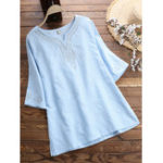 New Women Loose Embroidered Short Sleeved T-Shirts