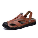 New Cowhide Hand Stitching Slip Resistant Outdoor Sandals