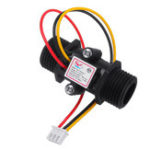 New 3pcs YF-S201C Black Flow Meter Water Flow Sensor Switch Precision Flowmeter Turbine Flowmeter G1/2 DN15