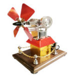 New STEM High Speed Stirling Engine Fan Propeller External Combustion Engine Model Decor Gift