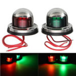 New 12V Yacht LED Navigation Lights Stainless Steel Bow Marine Boat Red Green Lamp