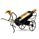 New Whiskey Bottle Rack Holder Retro Stainless Steel Iron Creative Ornaments Home Room Decorations