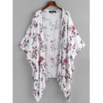 New Casual Women Loose Floral Print Batwing Sleeve Cardigans