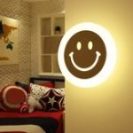 New 10W LED Round Smile Aisle Living Room Wall Light Indoor Bedside Lamp