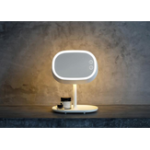 New MUID Makeup Mirror Desk Lamp Table Dressing Mirror Bedside Night Lamp Princess Makeup Mirror LED Lamp Night Light
