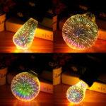 New E27 6W Colorful 3D Christmas Holiday LED Firework Light Home Decorative Lamp LED Bulb
