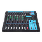 New 8 Channel bluetooth Live Studio Audio Mixer Mixing Console USB +48V Phantom