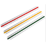 New Deli 8930 Student Triangular Scale Straight Ruler Multi-function Drawing Mapping Measurement Ruler For 30cm