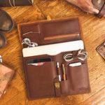 New Ekphero Men Hangbag Solid Office Multifunction Briefcase