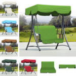 New Outdoor Garden Swing Bench Hammock Canopy Waterproof Top Cover Sunshade + 2 Seater Chair Cover