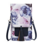 New Women Casual Multi-Color Flower National Phone Bag