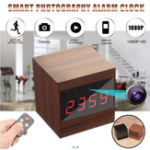 New  Brown A10 HD 1080P WIFI Night Vision Camera Electronic Clock IP Camera
