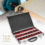 New 35pcs 1/4 Inch Shank Router Bit Set 6.35mm TCT Tungsten Carbide Tipped Woodworking Cutter