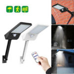 New 48 LED Solar Wall Light PIR Motion Sensor Outdoor Yard Street Lamp Waterproof with Remote Control