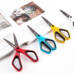 New FIZZ JD8240 Scissors Stationery Creative Hand-made Large Scissors Coated Fluorine Anti-stick Non-adhesive Paper-cut Scissors