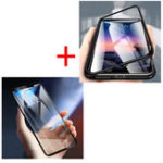 New Bakeey Magnetic Adsorption Metal Tempered Glass Flip Protective Case+5D Tempered Glass Screen Protector For Xiaomi Redmi Note 6 Pro