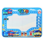 New Water Painting Drawing Board Mat Writing Magic Pen Doodle Toy Gift For Baby Kids 80X60cm
