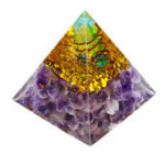 New Himalayas Stone Decorations Orgone Pyramid Energy Generator Tower Home Reiki Healing Crystal