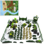 New 90pcs DIY Military Model Playset Plastic Toys Soldier Army Men Figures & Accessories