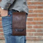 New Men Retro Business PU Phone Bag Mini Outdoor Casual Bag