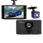 New 1080P 3 Lens Auto Loop Recording Parking Monitoring Rear View Mirror Car DVR Camera