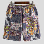 New Mens Holiday Colorful Printing Loose Fit Beach Summer Shorts