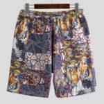 New Mens Holiday Colorful Printing Loose Fit Beach Summer Shorts