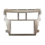 New Car Stereo Panel Fascia 2 Din Silver Frame For Toyota Vios Yaris Sedan Belta