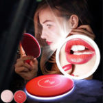 New Bakeey Portable Mini LED Makeup Mirror Wireless Charger for Samsung Xiaomi Huawei