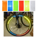 New OUTERDO 1pc Fluorescent Bike Reflective Stickers MTB Road Cycling Motorcycle Car Wheel Tire Strip Decal Tape Safety Bicycle Accessories