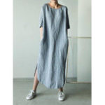 New Women Crew Neck Shift Daily Casual Solid Dress