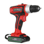 New 48V 2 Speed Cordless Rechargeable Battery Electric Screwdriver Power Drill LED