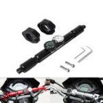 New 22mm Motorcycle Aluminum Handlebar Compass Quartz Clock Mirror Riser Extender Adaptor